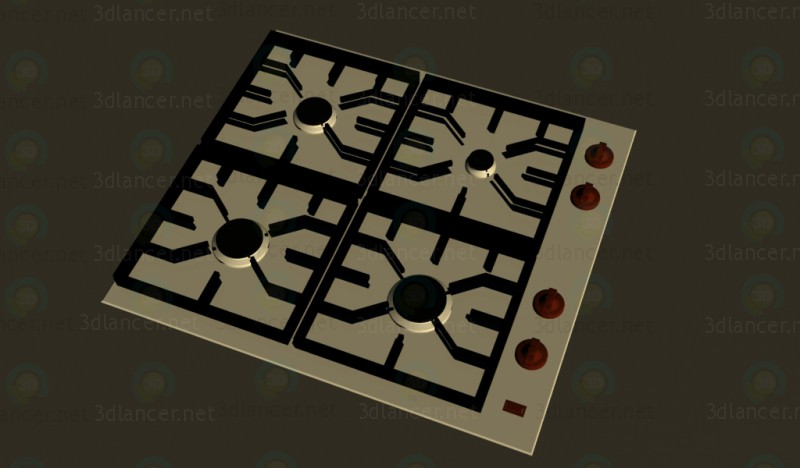 3d modeling Gas cooking surfaces model free download