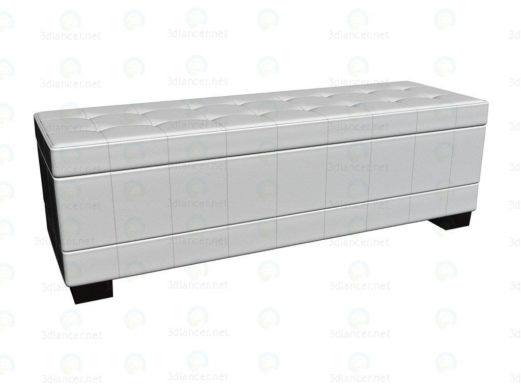 3d model Bench Diva White - preview
