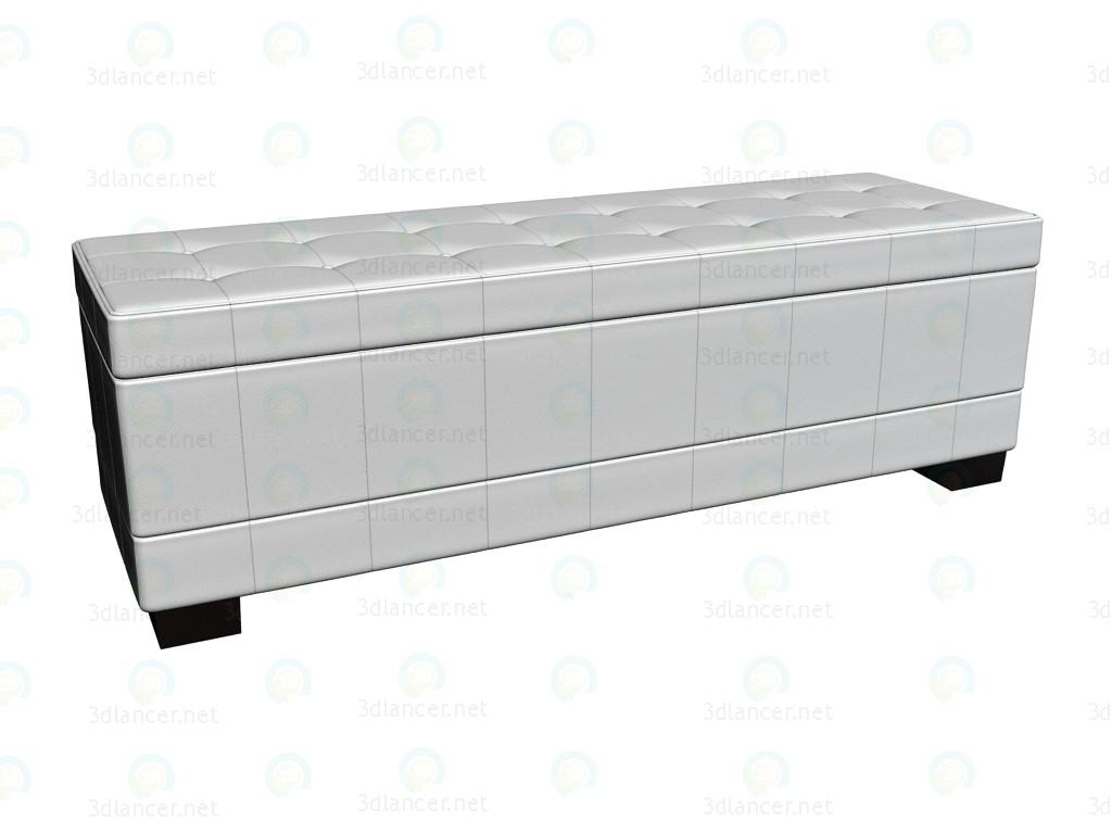 3d модель Скамья Diva White – превью