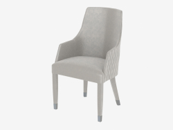 Armchair with combined upholstery BYRON