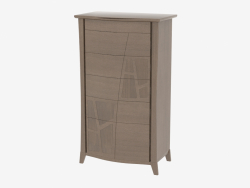 Chest high with 6 drawers on SEMONC curved legs