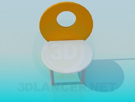 3d модель Детский стул – превью