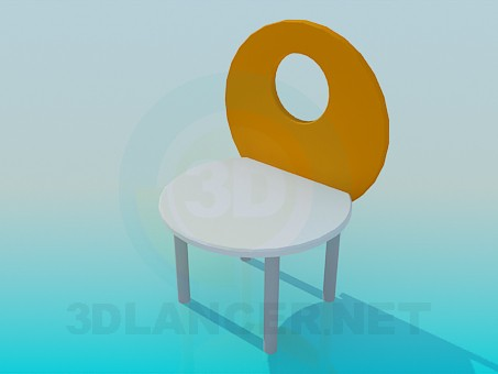 3d model Children's stool - preview