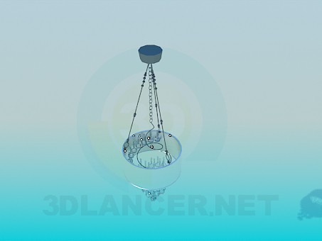3d model Chandelier with hrustalnymi balls - preview