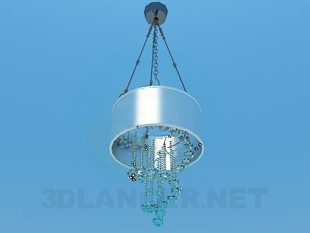 3d модель Спиралевидная люстра с хрусталными шариками – превью