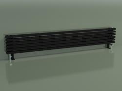 Radiateur horizontal RETTA (6 sections 2000 mm 60x30, noir mat)