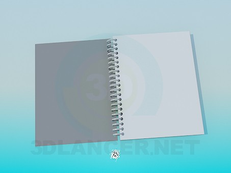 3d model Notebook - vista previa