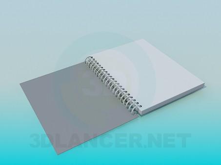 modelo 3D Notebook - escuchar