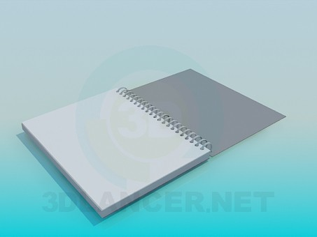 3d model Notebook - preview