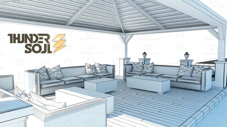 Chalet en jardín 3D modelo Compro - render