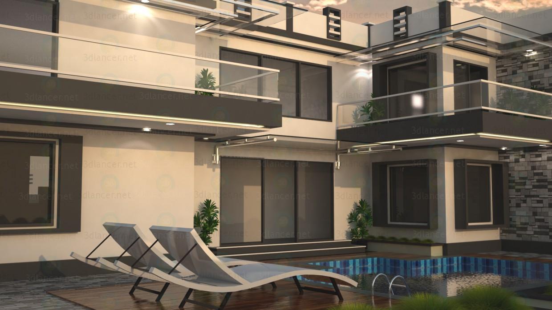 3d modeling Luxury villa model free download