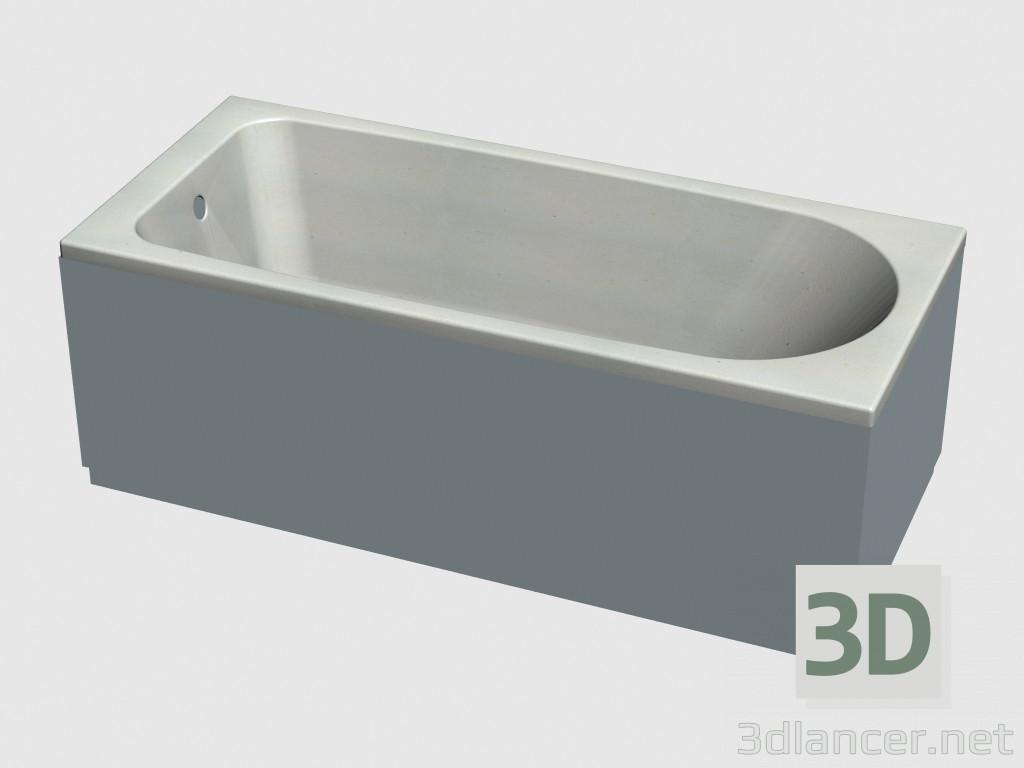 3d model Paneles de estiramiento gasa baño (170 x 75) - vista previa