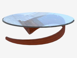 Coffee table in Art Nouveau style