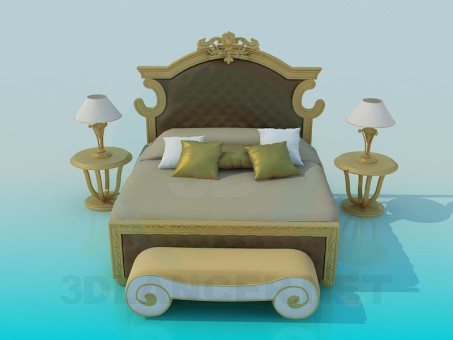 3d modeling Bed Clasic model free download