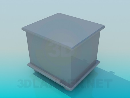 3d model Bedside cabinet - preview