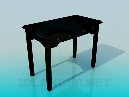 3d модель Стол с выдвижными ящиками – превью