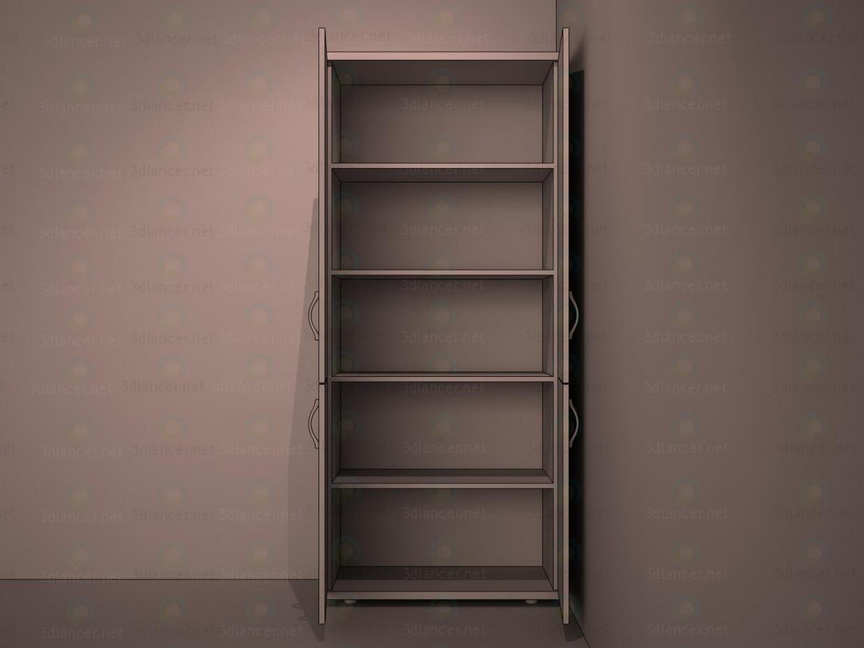 3d Шкаф под документы 2 модель купить - ракурс