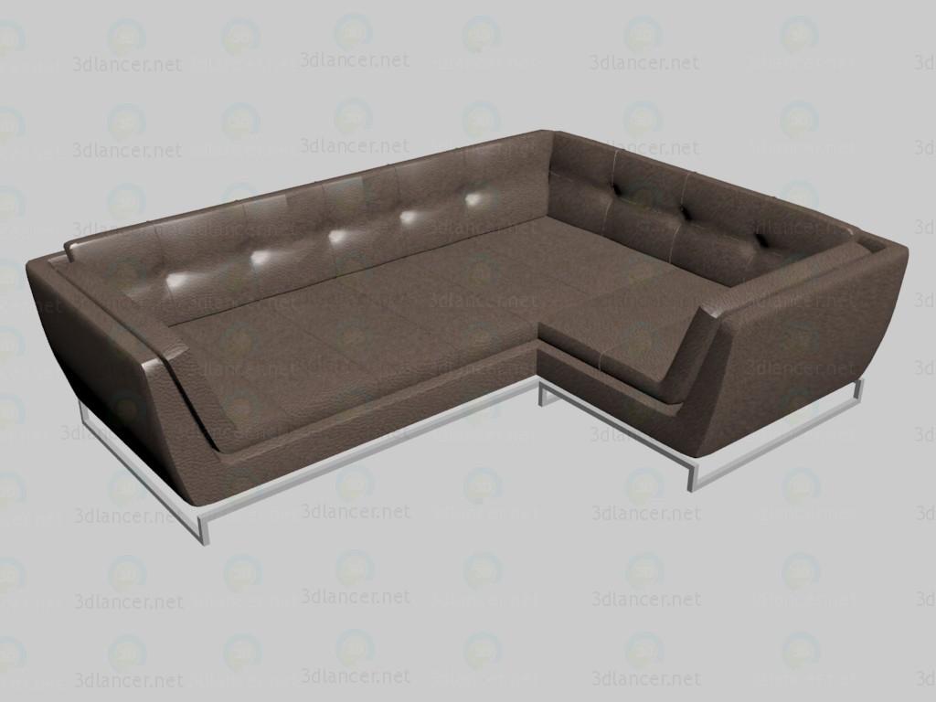 modelo 3D Sofá de esquina Siena - escuchar