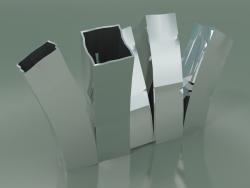 Vase Skyline Up (H 35cm, Platinum)