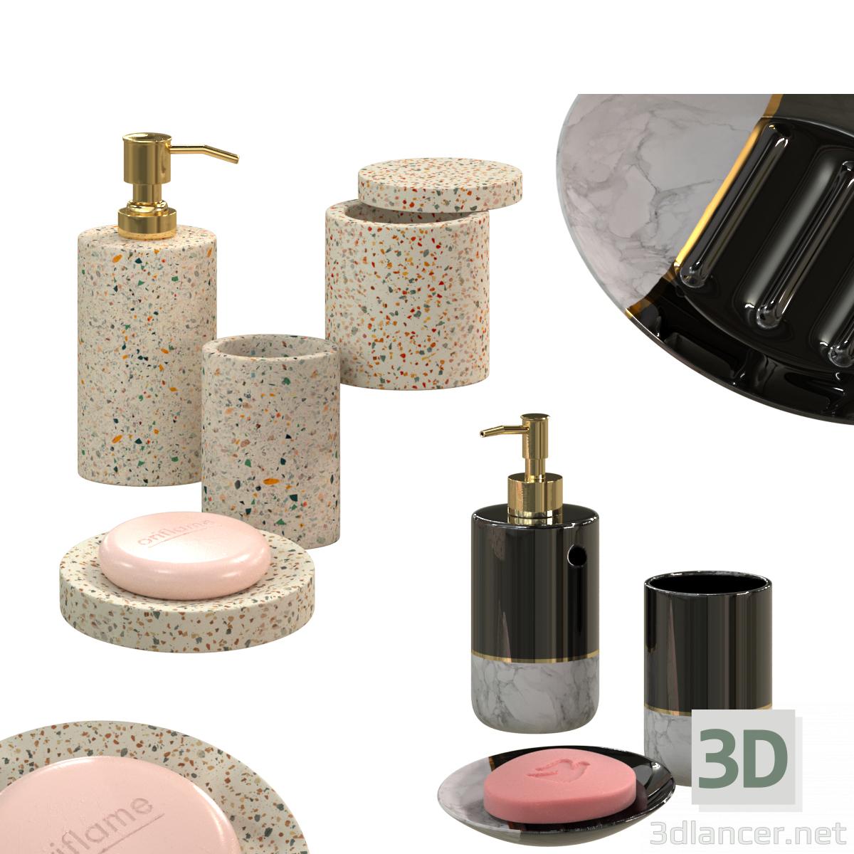3d Bathroom set LA REDOUTE INTERIEURS model buy - render
