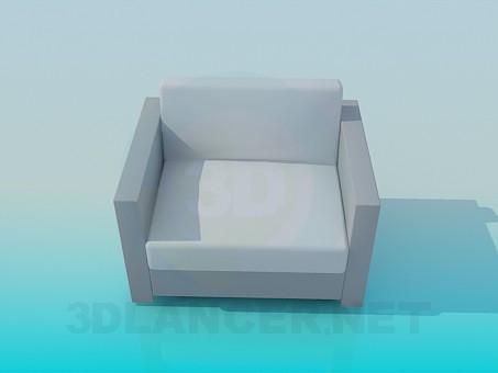 3d моделирование Обычное кресло модель скачать бесплатно