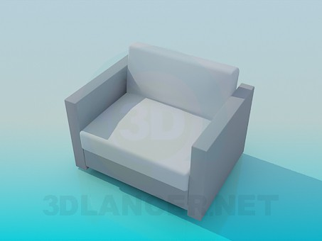 3d model The usual armchair - preview