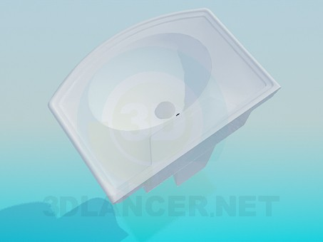 modelo 3D Lavabo con tableros - escuchar