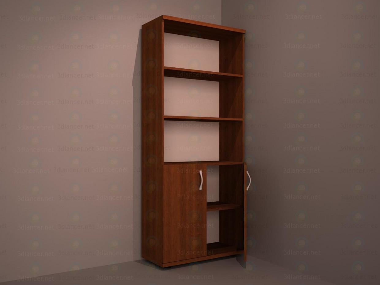 El armario bajo los documentos 3D modelo Compro - render