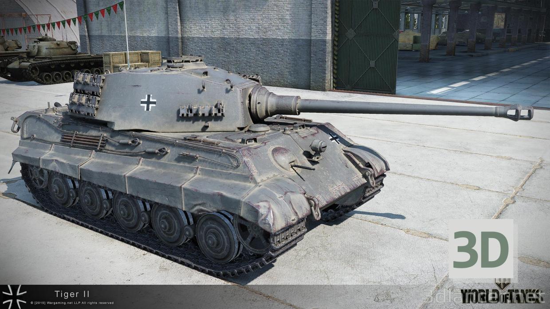 3d model Germany Tiger 2 Tank, max(2016), - Free Download   3dlancer net