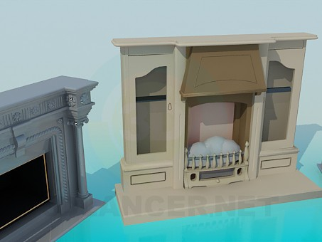 3d modeling Different fireplaces model free download
