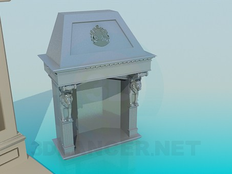 3d model Different fireplaces - preview