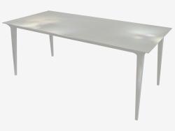 Table à manger (frêne teinté blanc 90x180)