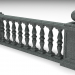 3d Railing (section) model buy - render