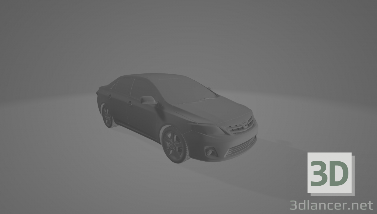 3d model Toyota Corolla - preview