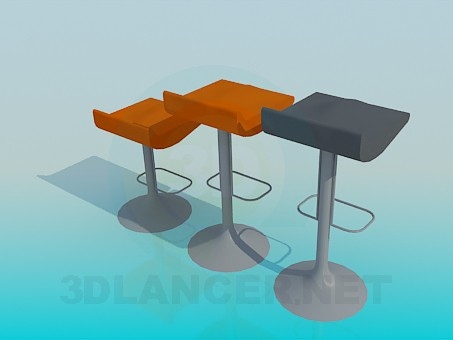 3d modeling Bar chairs model free download