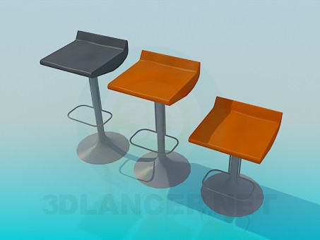 3d model Bar chairs - preview