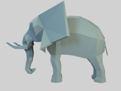 Éléphant low poly