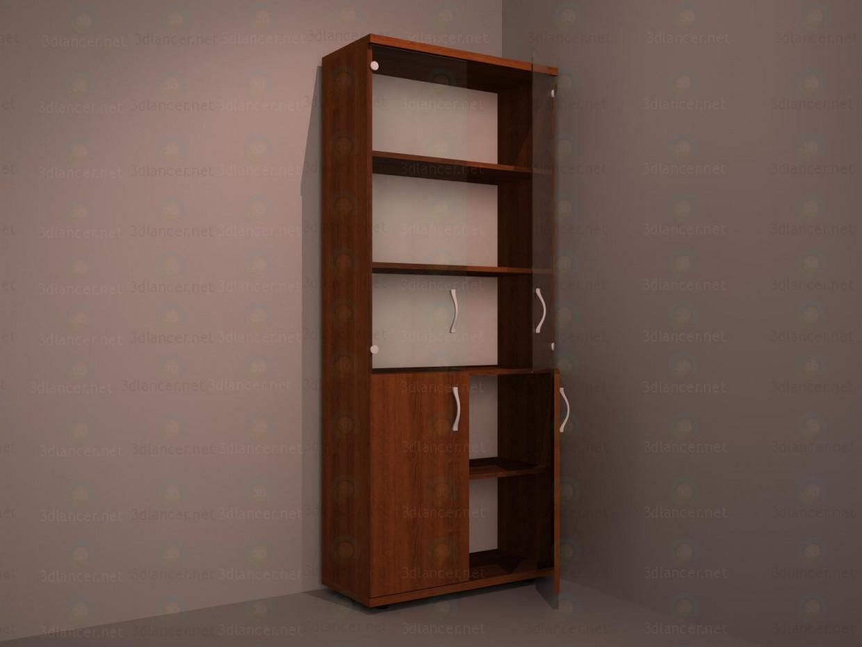 3d Шкаф под документы 5 модель купить - ракурс