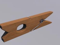 कपड़े पेग (लकड़ी)