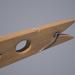 3D modeli Giysi peg (ahşap) - önizleme