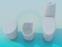 A set of sanitaryware
