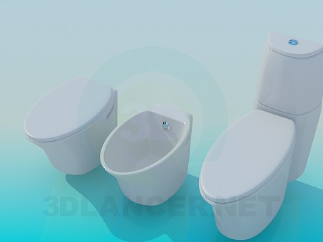 3d model A set of sanitaryware - preview