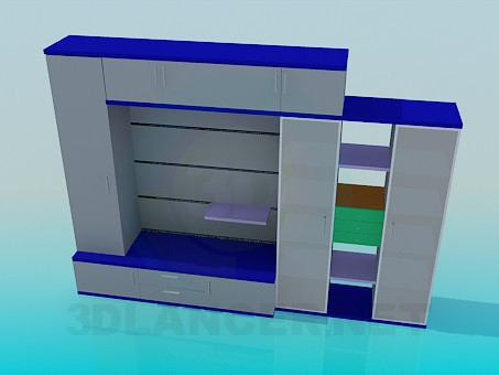 3d модель Шкаф-стенка – превью