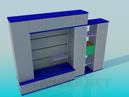3d model Closet-wall - preview