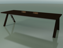 Table with office worktop 5031 (H 74 - 280 x 98 cm, wenge, composition 2)
