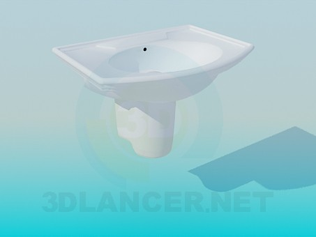 3d model Wash-stand with boards - preview