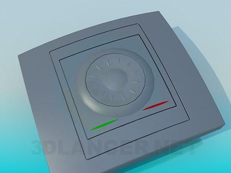 modelo 3D Interruptor de la luz - escuchar