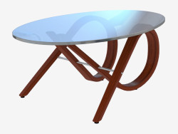 Coffee table with oval table top