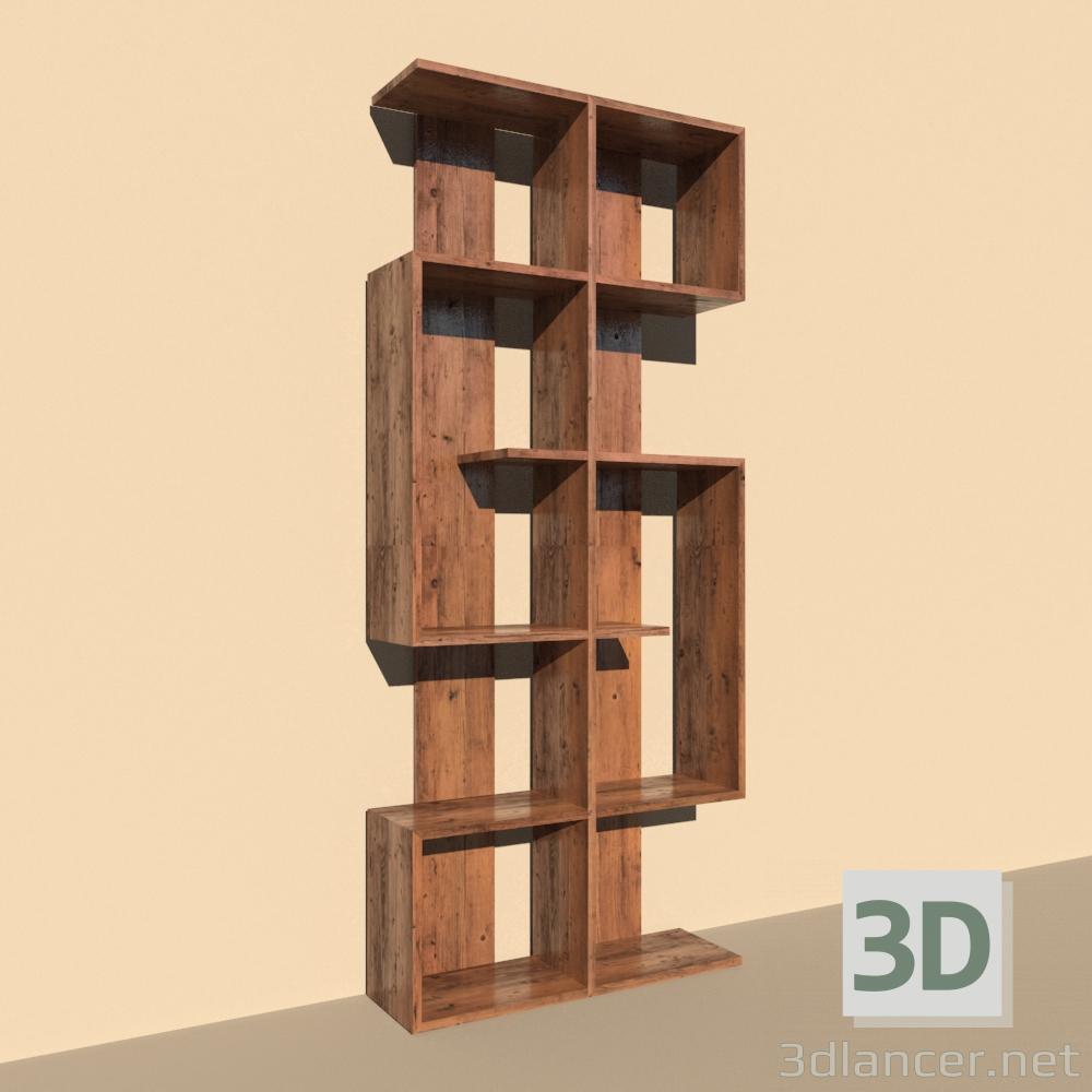 3d Model Book Rack Id 23615