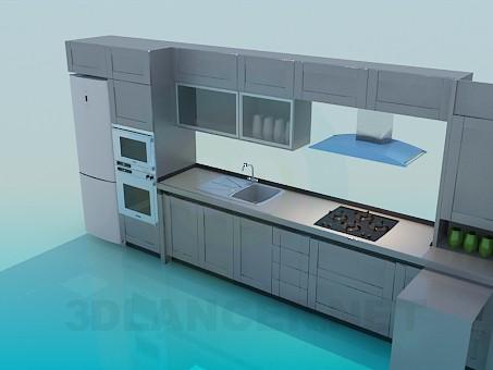 3d model Kitchen set - preview